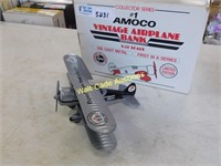 Amoco Vintage Airplane Coin Bank 1/32 Die Cast