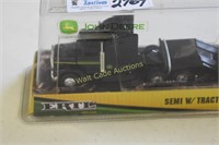 Die cast John Deere Semi with Tractor loader by