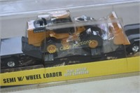 Die Cast John Deere semi with wheel loader by the