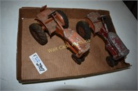 Metal Tractor Toys Vintage set of 2 American