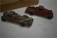 Metal Vintage Toy Cars set of 3- Orange Car is
