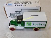 1931 Hawkeye Motor Truck P.I.E. - Die Cast Bank -