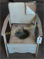"Potty Chair Vintage Handmade Approx. 32""x20""x22"""