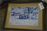 Framed Art lot of 4- Afternoon In Mexico, House