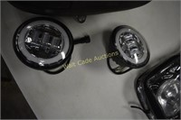 Harley Davidson Motorcycle Seat and Lights