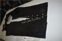 Leather Chaps Size XS Genuine Leather Brand
