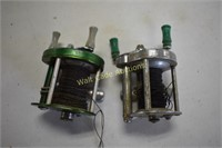 Vintage Fishing Reels lot of 2- J.C. Higgins and