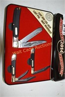 Old Tlmer Schrade 2014 Edition Case with 3 knives