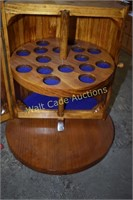 """Wooden Shot Glass holder approximately 13"""" Tall"""