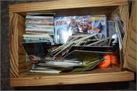 Wooden Box full of Sports Collectors Cards