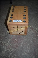 Wooden Domino's in Wooden Box approximately 6