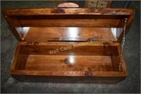 """Wooden Tool Box approximately 8""""x7""""x19"""""""