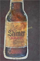 "Shiner Bock tin sign approximately  32""x10"""