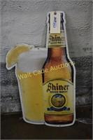 "Shiner Honey Wheat tin sign approximately 30""x18"""