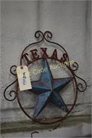 "Texas Star wall art approximately 19""x19"""