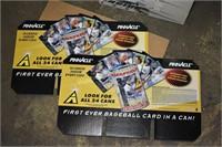 Pinnacle 1997 Baseball card cans with no cards