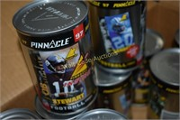 Pinnacle 1997 Football card cans with cards in