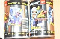 Pinnacle Baseball and football card cans
