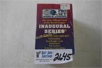 Football cards unopened  Pro Set Inaugural Series