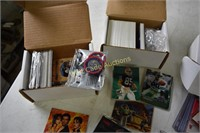 Football,  Nascar, Movie card lot of 3 boxes