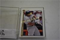 Baseball cards in Case Upper Deck