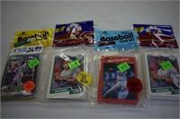 Baseball card packs unopened set of 4 packs