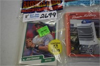 Baseball cards unopened 4 packs