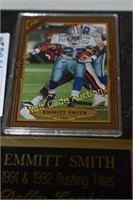 Emmit Smith Collectors Plaque with Card