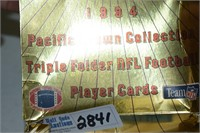 Football Triple Folder 1994 Players Cards and 2