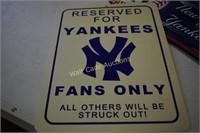 New York Yankees LED Sign and Wall art lot