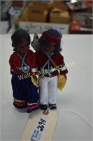 Carlson Dolls Navaho Chief and Navaho Princess