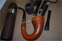 Pipes and replacement parts and Cologne bottle