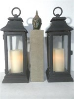 Candle Lanterns & Statue