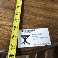 NEW WMC TEXTURED GREY/OAK ACCENT TABLE ($109.95)