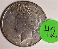"1923 ""S"" - SILVER PEACE DOLLAR (42)"