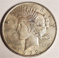 1922 - SILVER PEACE DOLLAR (45)