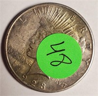 "1923 ""S"" - SILVER PEACE DOLLAR (48)"