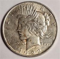1923  - SILVER PEACE DOLLAR (49)