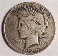 "1926 ""D"" - SILVER PEACE DOLLAR (52)"