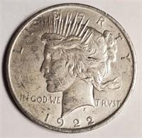 1922 - SILVER PEACE DOLLAR (54)