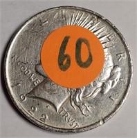 1922 - SILVER PEACE DOLLAR (60)