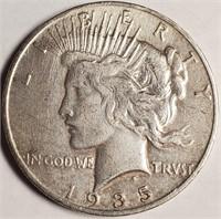 "1935 ""S"" - SILVER PEACE DOLLAR (62)"