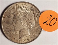 1922 - PEACE SILVER DOLLAR (20)