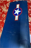 BLUE 35 MODLE AIRPLANE - SEE PICS FOR COND. (7)