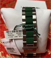 H - NEW LACOSTE GREEN WATCH $160.00