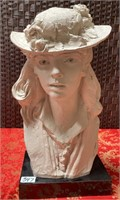 347 - BEAUTIFUL AUSTIN PROD. WOMAN BUST STATUE