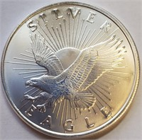 "ONE TROY OUCE .999 FINE SILVER ""SILVER EAGLE"""