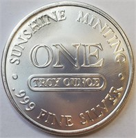 """ONE TROY OUCE .999 FINE SILVER """"SILVER EAGLE"""""""