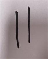11 - LOT OF 2 CUSTOM KNUCKLE RINGS (9)
