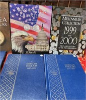 N - HUGE LOT OF EMPTY COIN BOOKS - SEE PICS (B9)